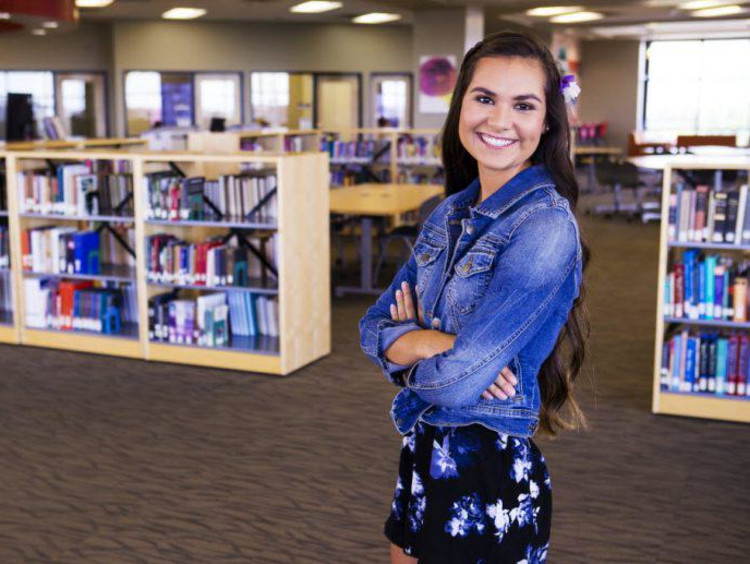 Tatum in the GCU library
