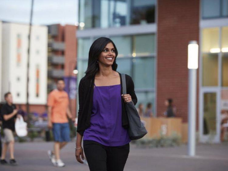 GCU female student on campus