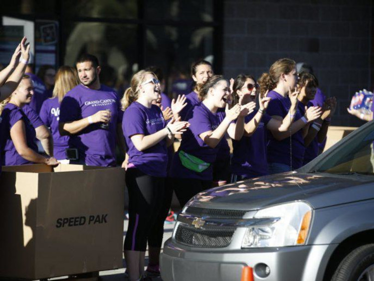 GCU welcome crew clapping
