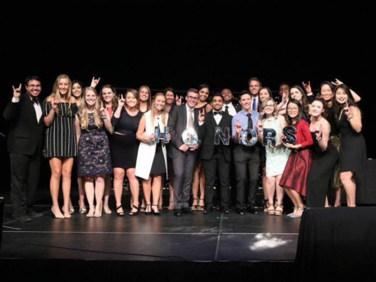 GCU honors students at the banquet