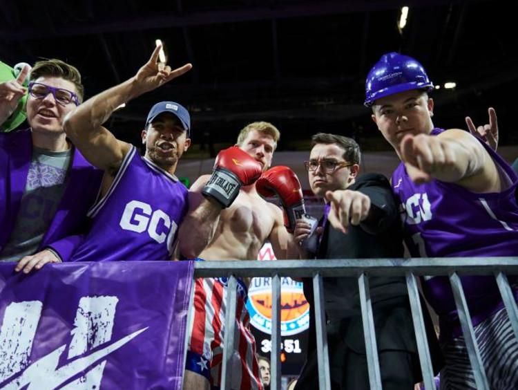 GCU havoc student section cheering