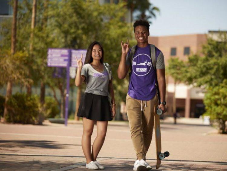 GCU students on the promenade