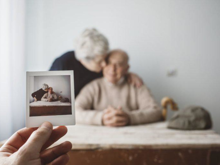 a photo of an older couple