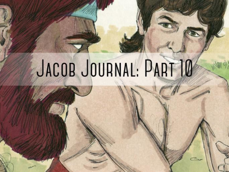 "people talking with ""jacob journal part 10"" written over it"
