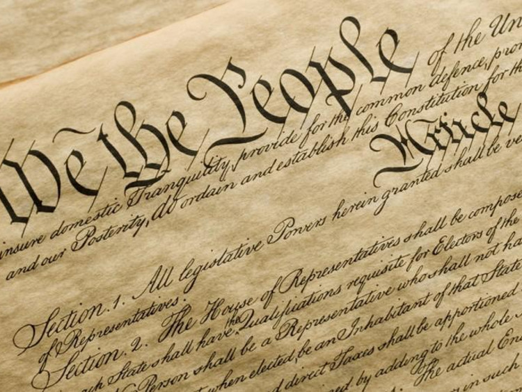 closeup of the declaration of independence