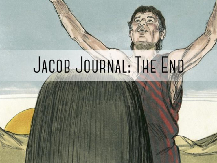 "person with hands up ""jacob journal: the end"""