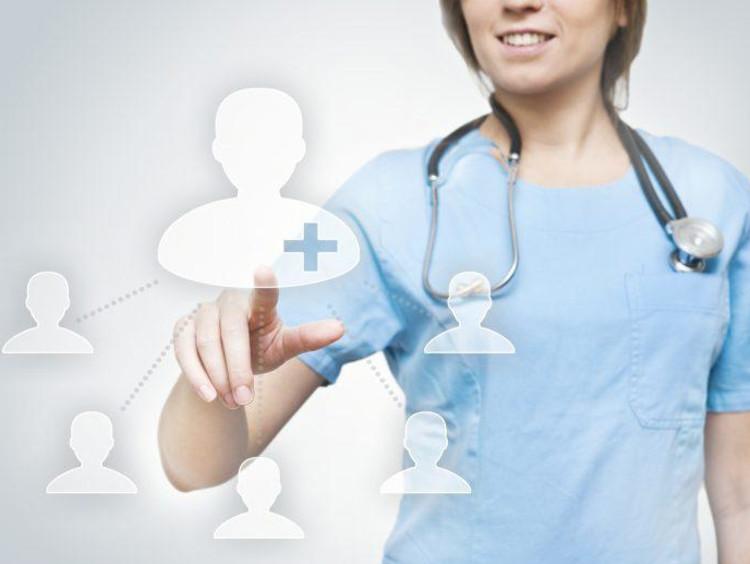 nurse in blue scrub