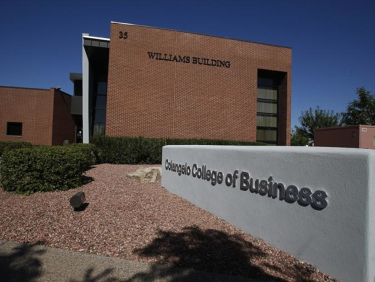 Exterior of Williams Building of the Coangelo College of Business