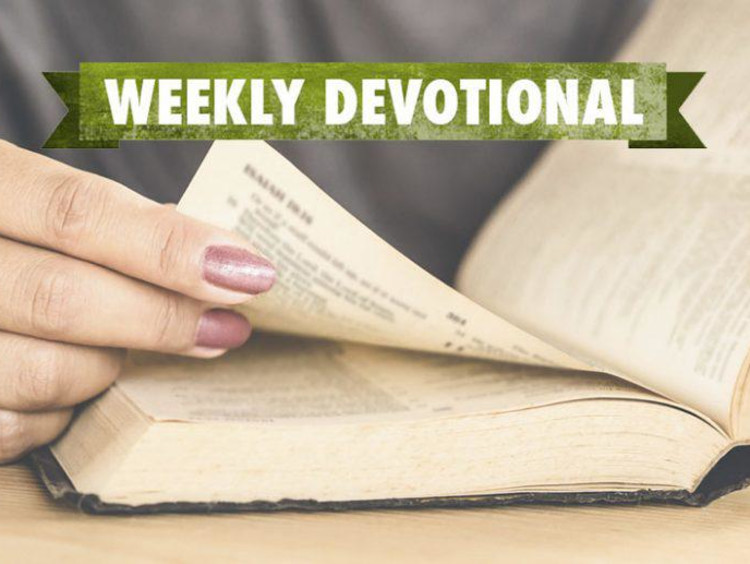 hand flipping through Bible