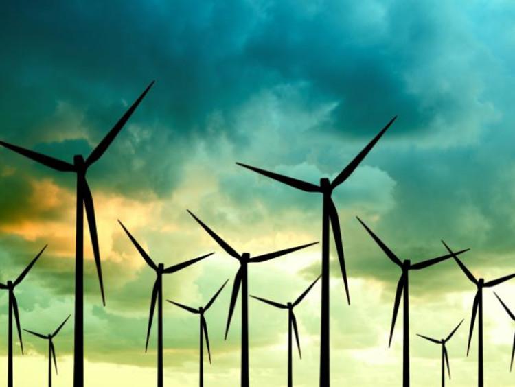 Solar Power Windmills Farm