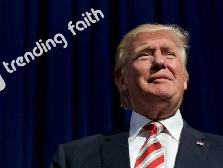Trending faith logo by a picture of President Donald Trump