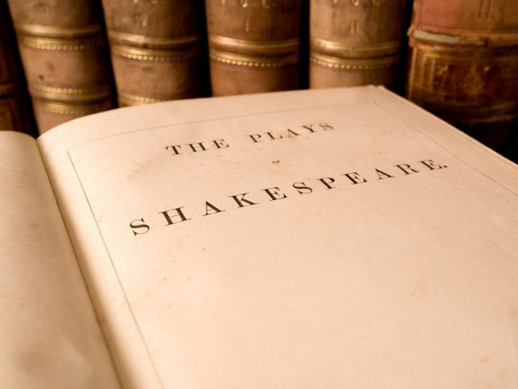close up of Shakespeare book
