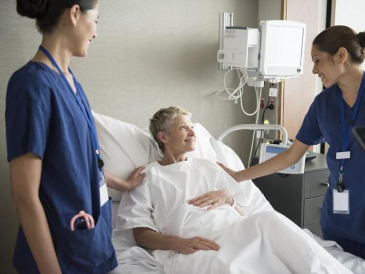Nurses attending a patient