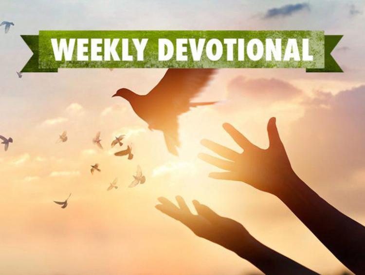 Weekly Devotional, Hands throwing up dove
