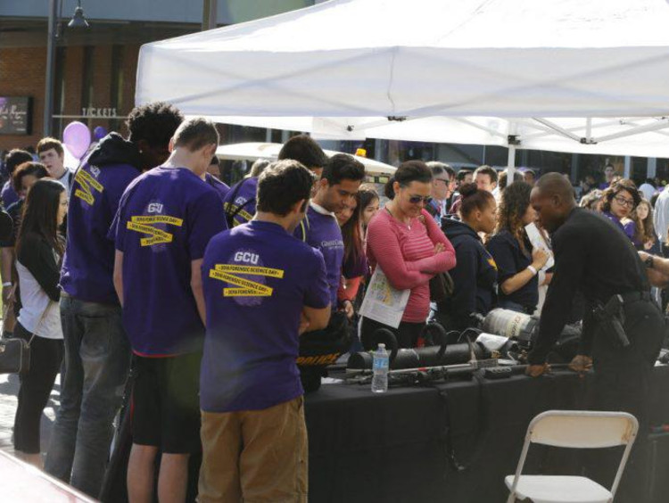 GCU students at a forensic science fair