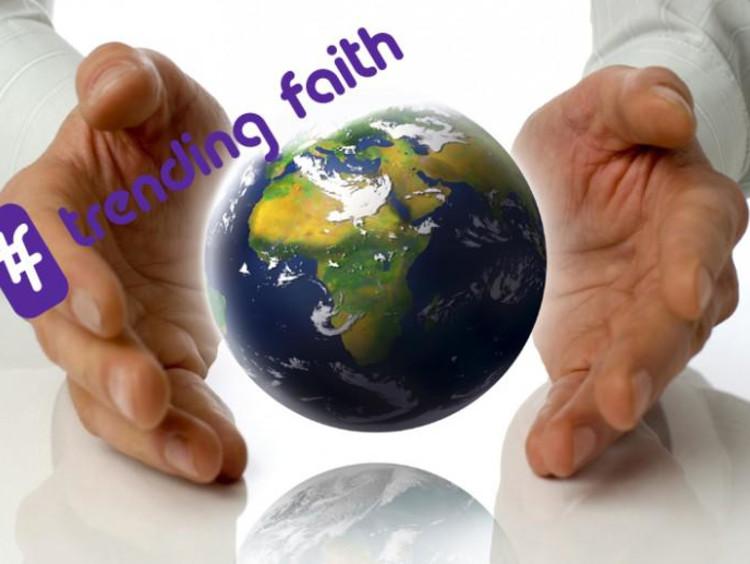 hands around a globe