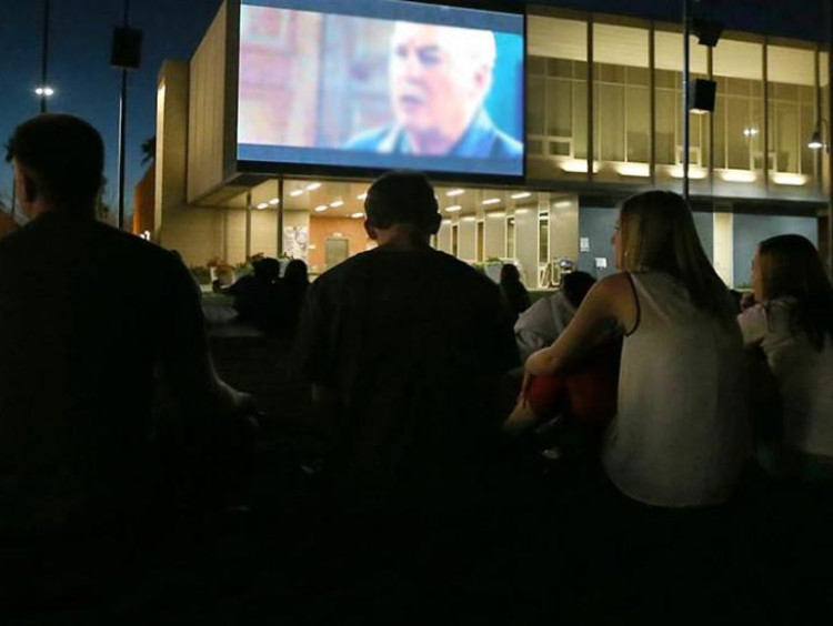 Night at the movies outside the arena