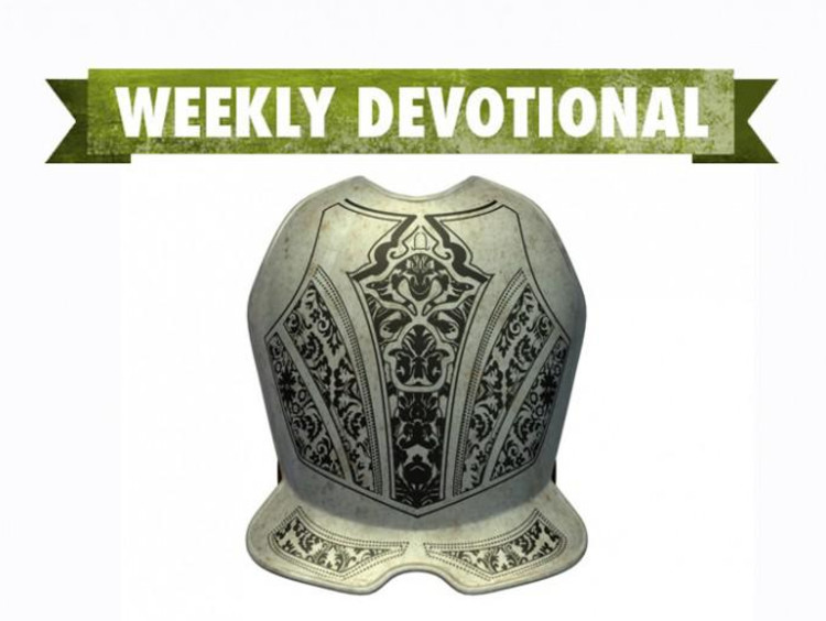 A breastplate under the Weekly Devotional banner