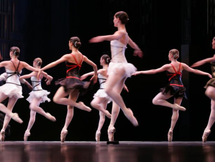 group of ballerinas dancing