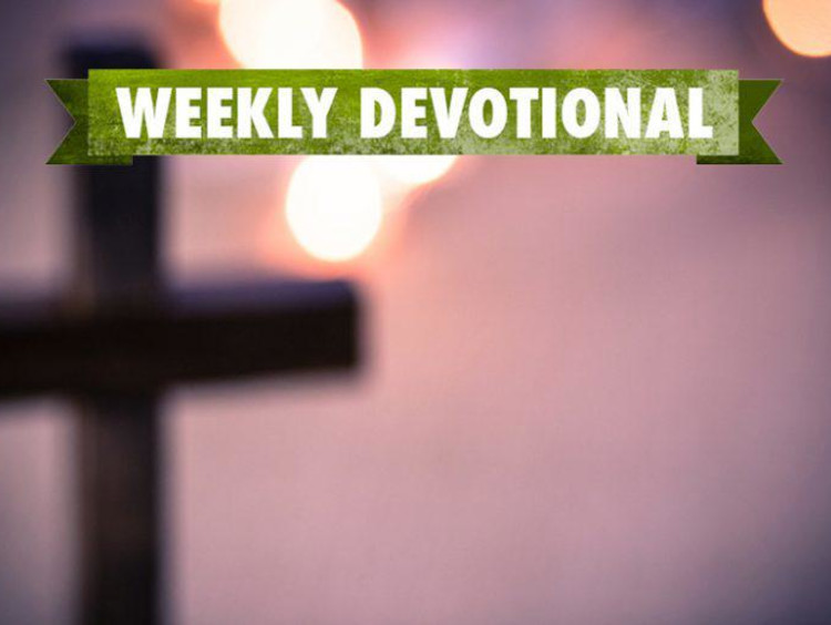 Weekly Devotional: Unfocus cross with lights
