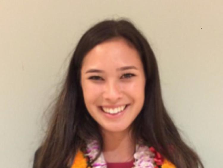 Rachel Kawakami in a lei