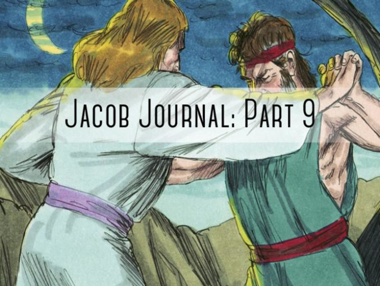 """two people fighting with """"jacob journal part 9"""" written on it"""