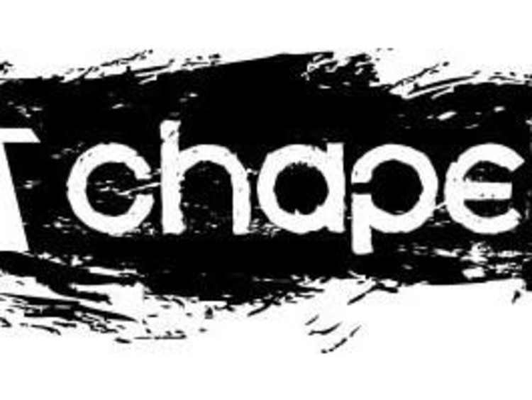 Black and white chapel logo with cross to left of chapel text