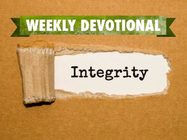 Weekly Devotional: Word Integrity revealed from box