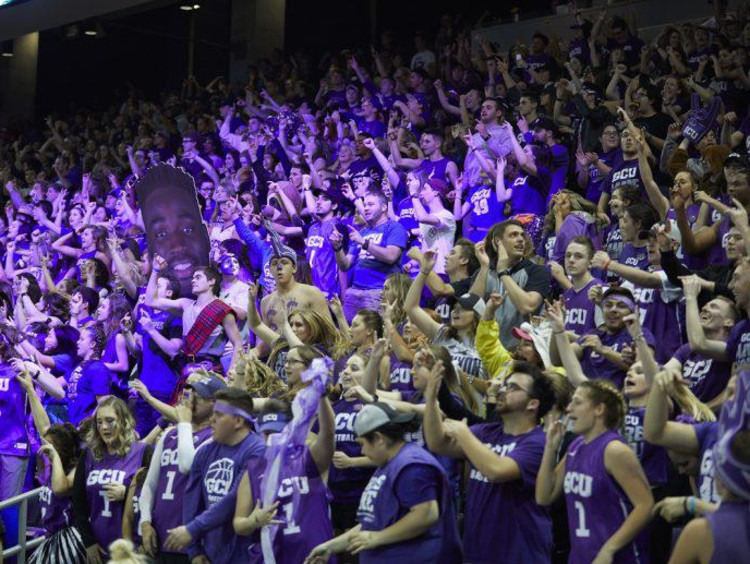 GCU student section during a basketball game