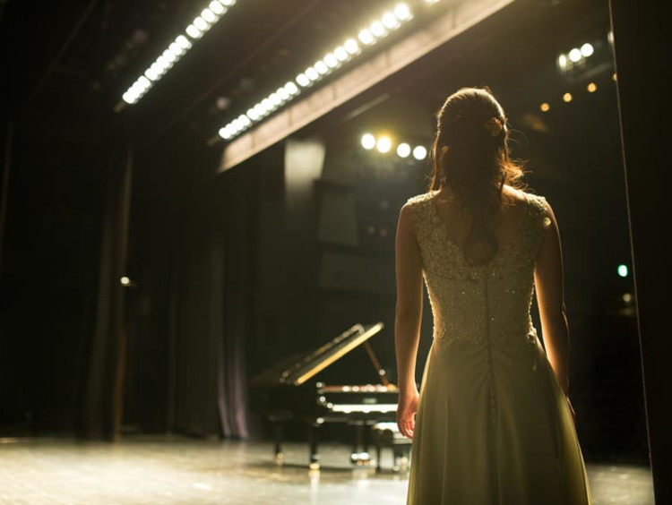 piano student before a performance