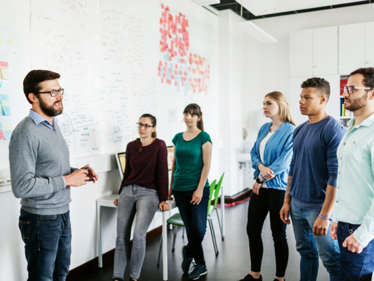 A group of teaching degree students learning about their degree