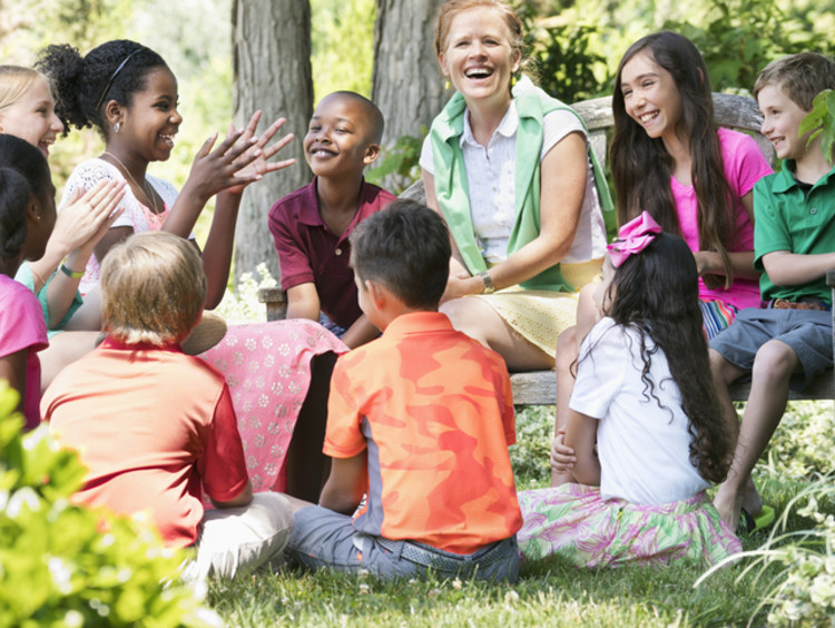 outdoor classroom discussion