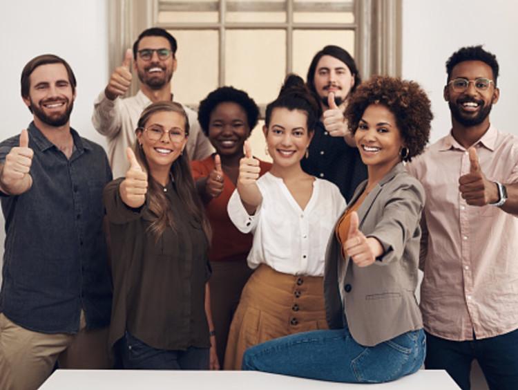 Team leaders congratulating you