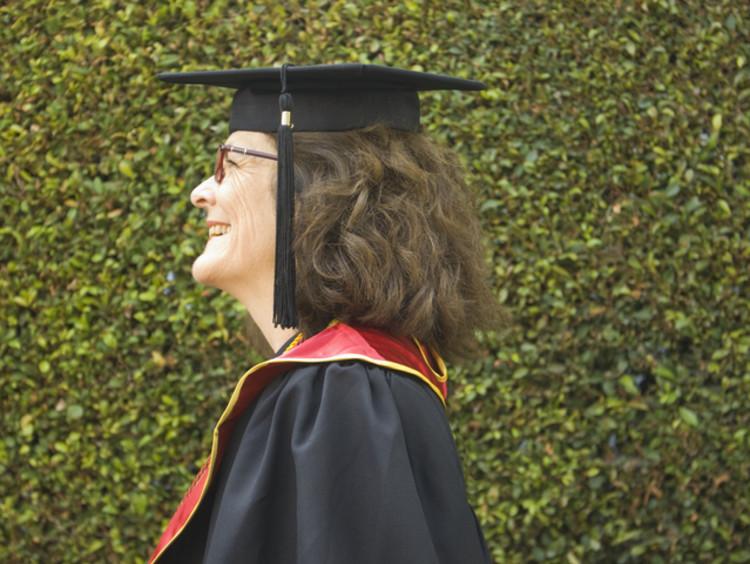 Woman graduating from degree program