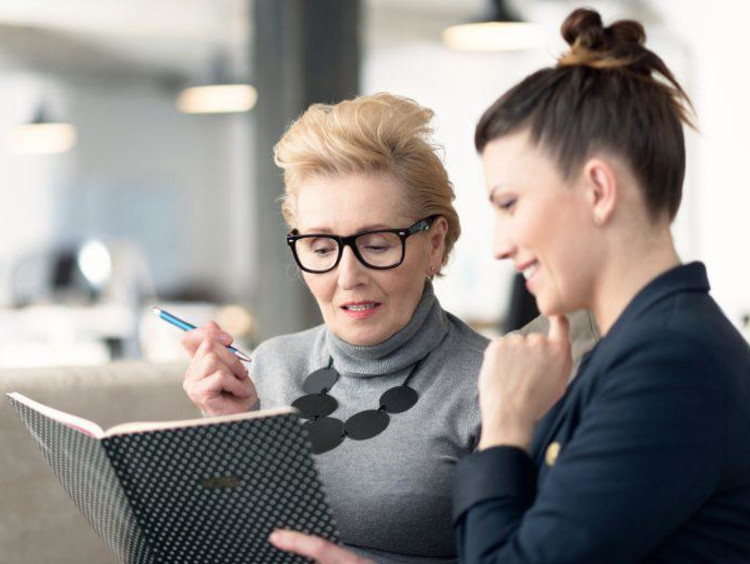 A life coach working with a client