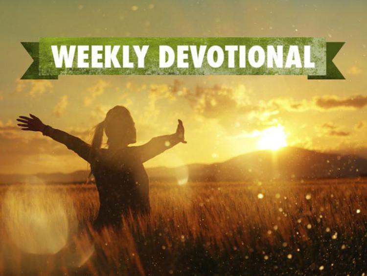 Weekly Devotional, woman running in a field