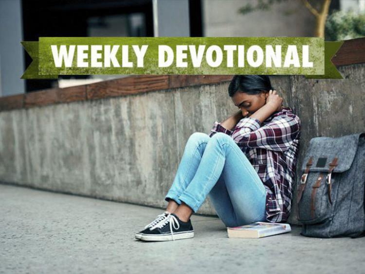 Weekly Devotional: Student sat looking stressed
