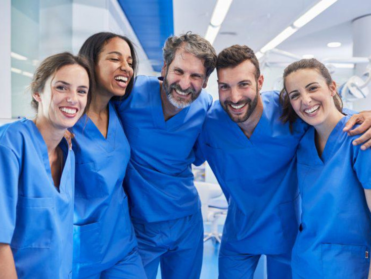 Clinical Nursing Students work and learn in hospital setting