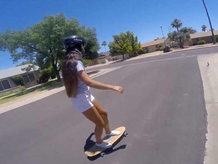 Tatum skateboarding