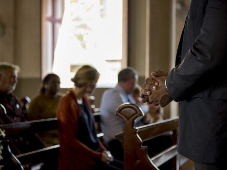 people sitting in church