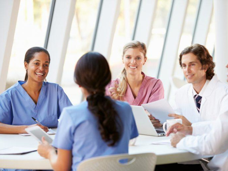 healthcare professionals in a meeting