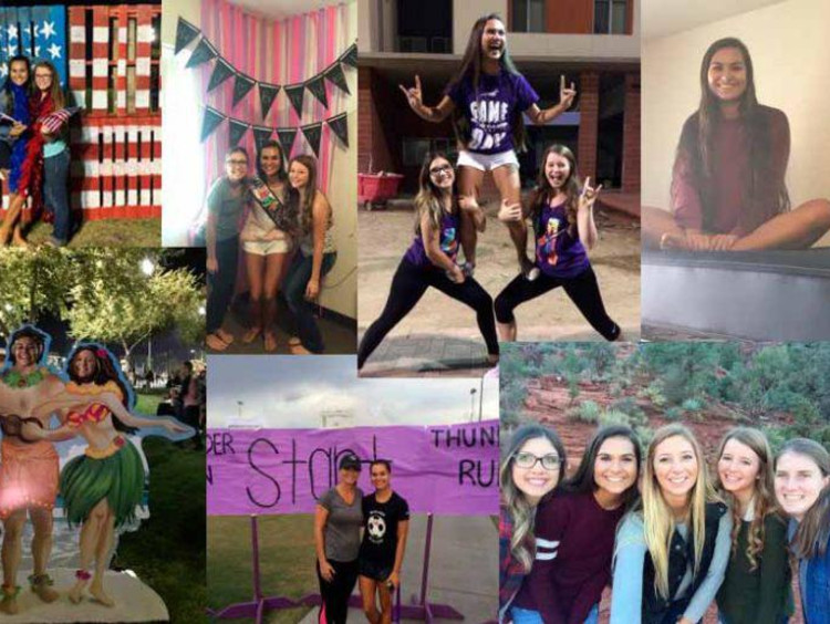 A collage of Tatum's freshman year memories