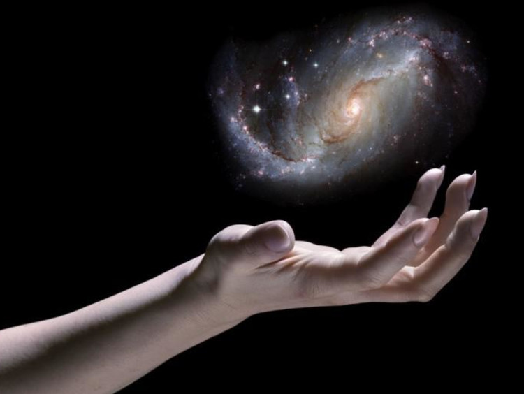 hands held out in space