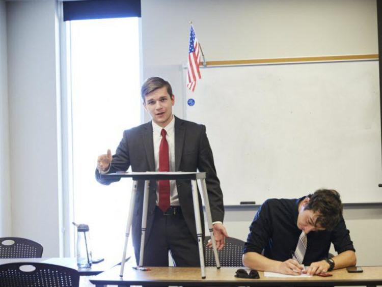 GCU students debating