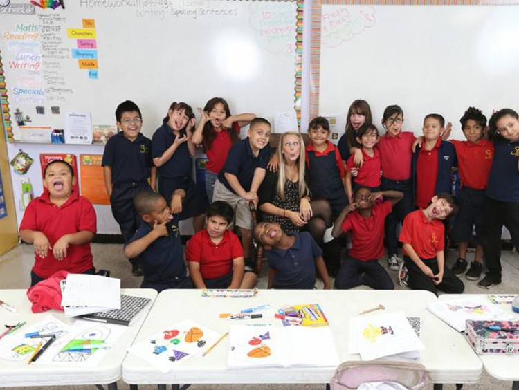 students together in the classroom