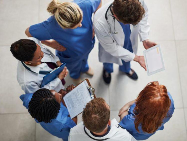 Nurses in a huddle