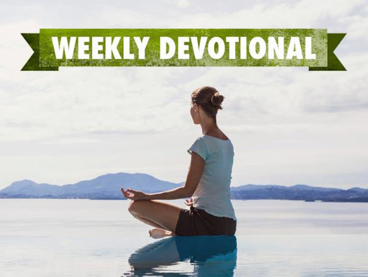 Weekly Devotional: Woman meditating