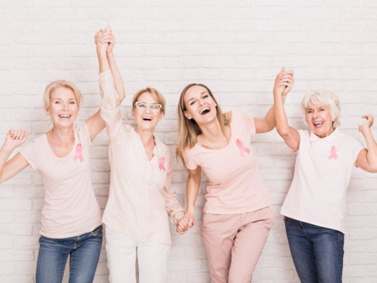 four breath cancer survivors