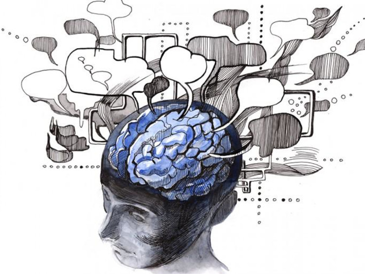 Cognitive Thought Map of Brain Graphic