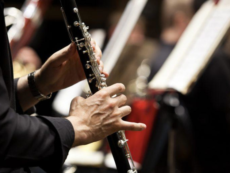 Person playing the bassoon